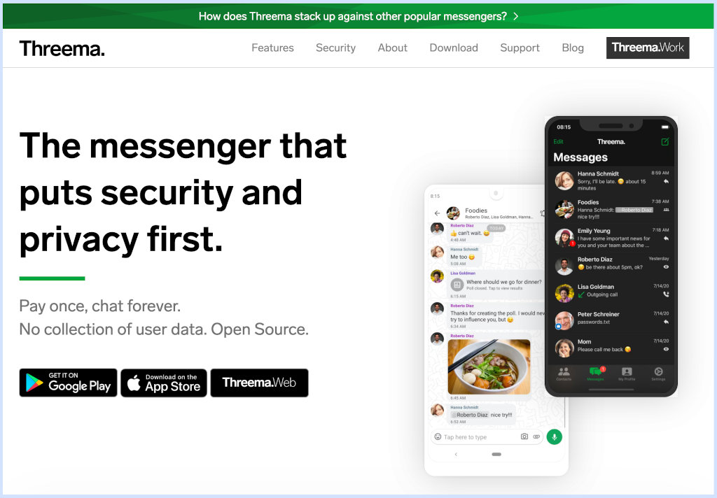 Threema - alternativas ao WhatsApp