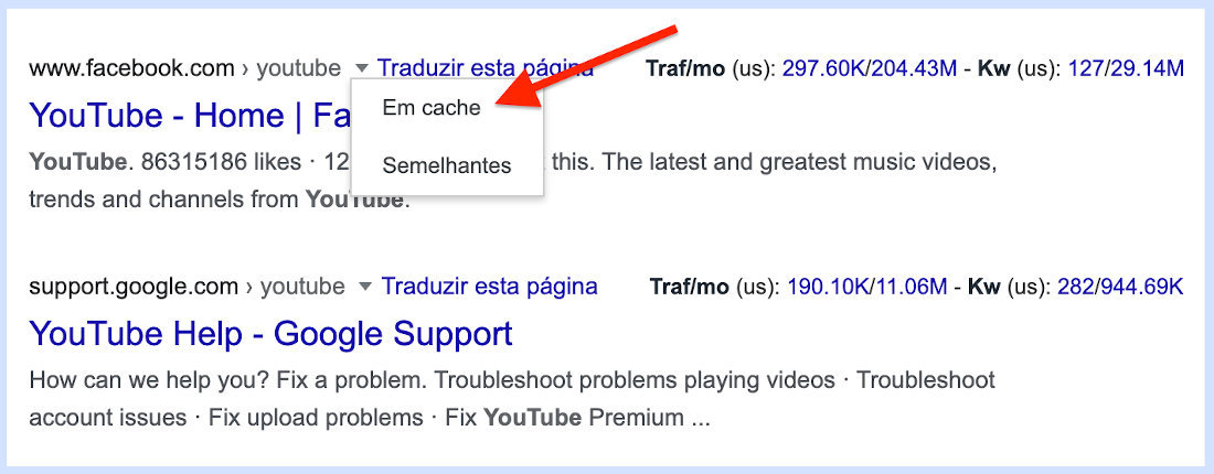 Desbloquear sites usando o cache do seu navegador