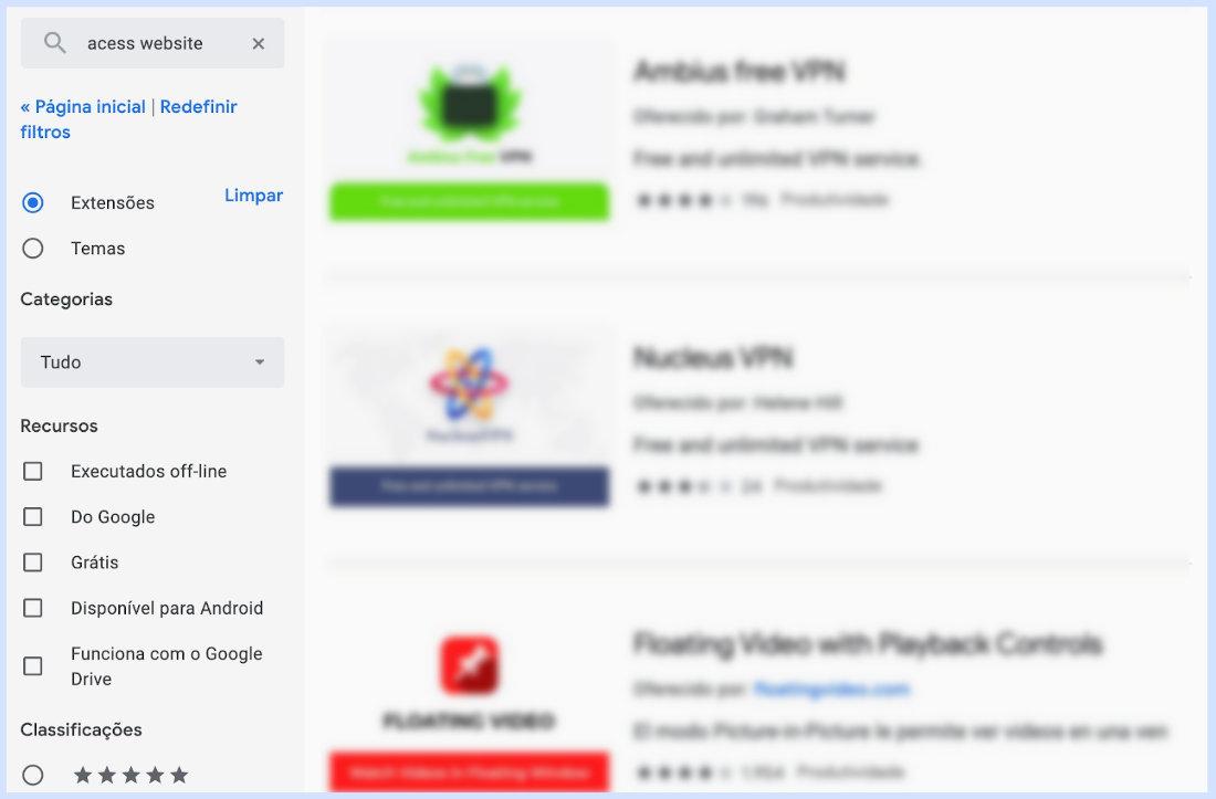 Como desbloquear sites no Chrome